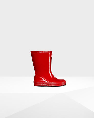 HUNTER ORIGINAL KIDS FIRST CLASSIC GLOSS RAIN BOOTS TODDLES BOOTS