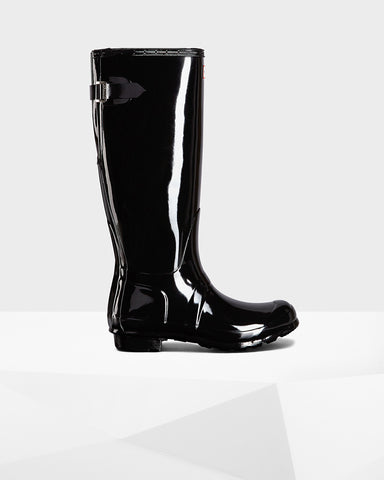HUNTER ORIGINAL ADJUSTABLE GLOSS WOMENS BOOTS