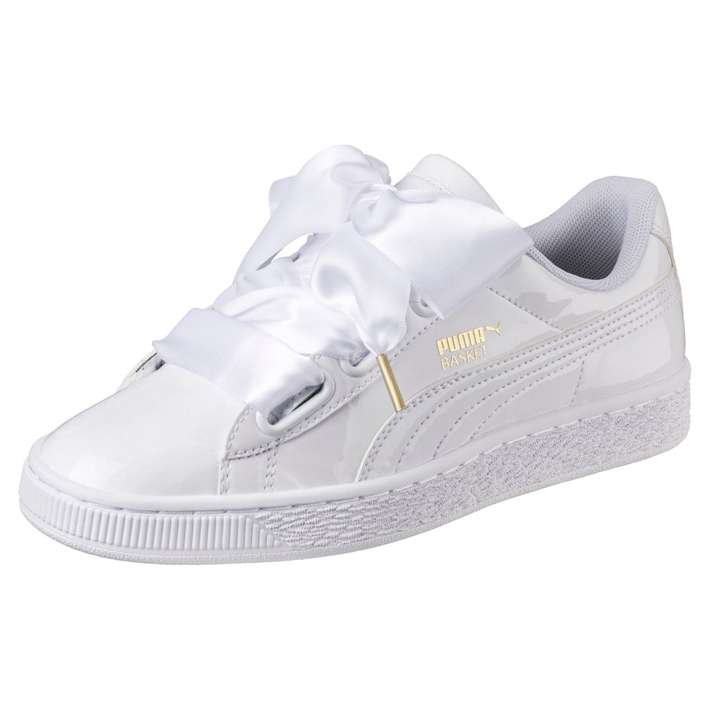 best loved bff2d 583d0 PUMA BASKET HEART PATENT WOMENS SNEAKERS