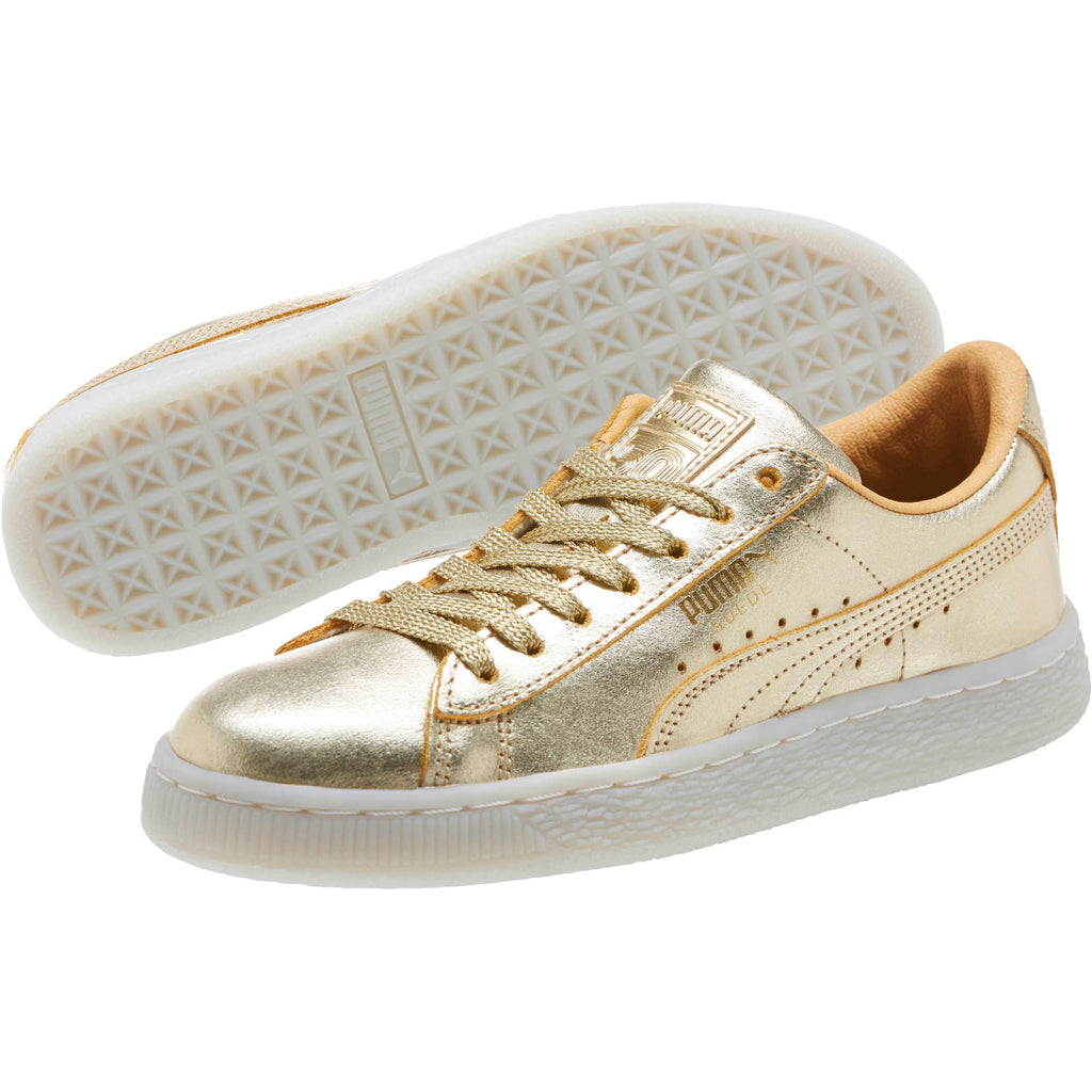 finest selection 8ad60 748ae PUMA SUEDE CLASSIC 50TH GOLD MENS SNEALERS