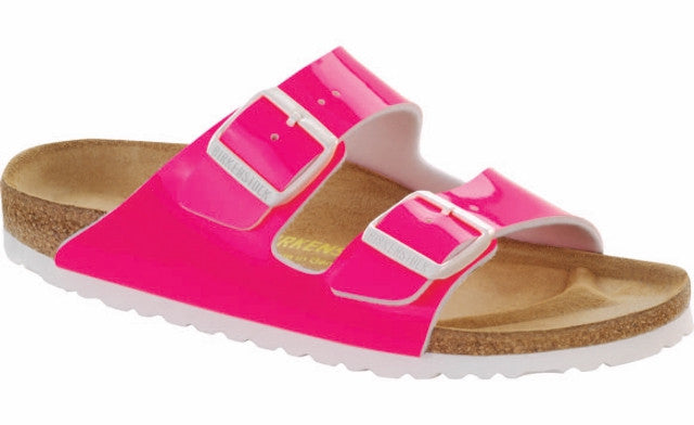 BIRKENSTOCK ARIZONA NEON PINK WOMENS SANDALS