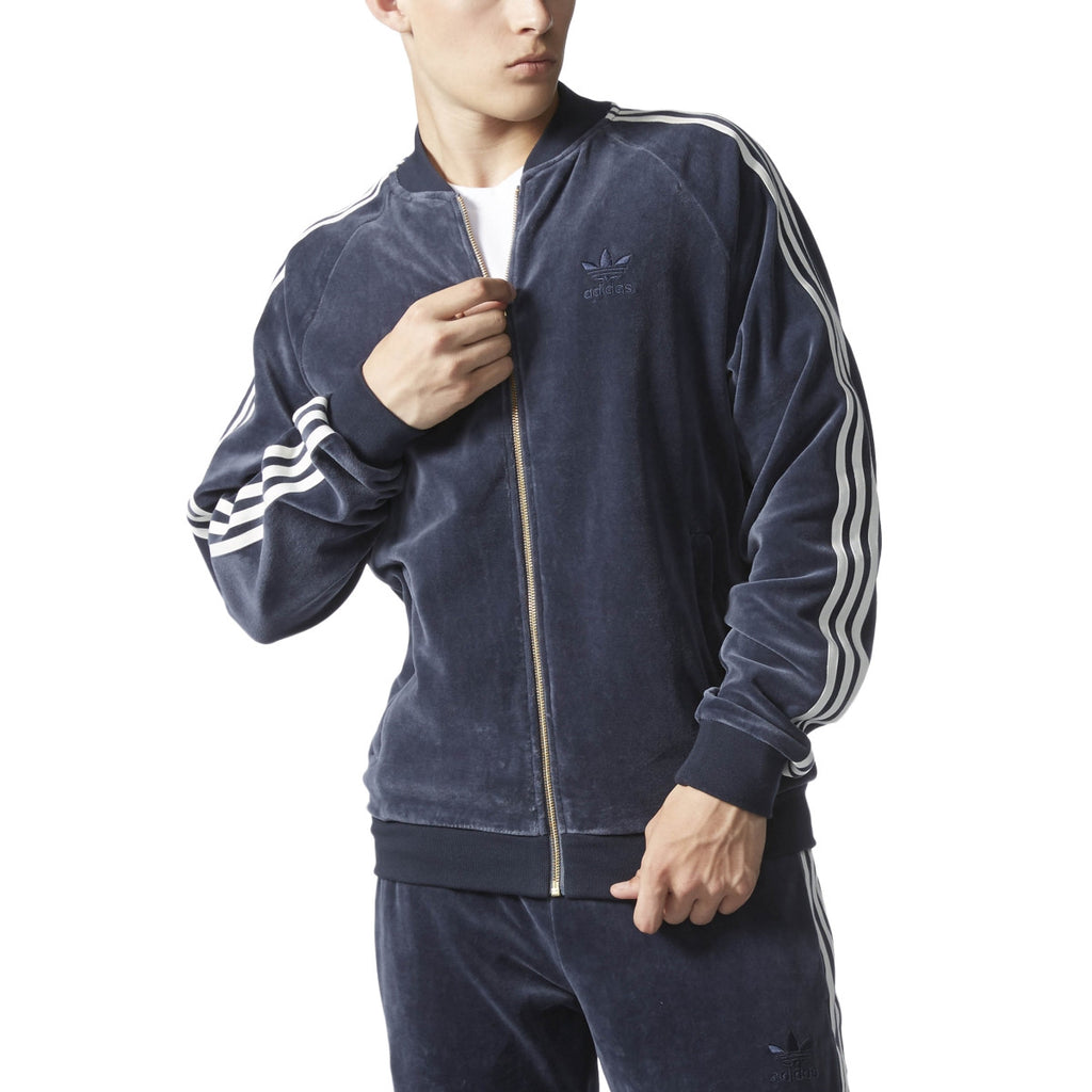 ADIDAS VELOUR SUPERSTAR JACKET MENS APPAREL