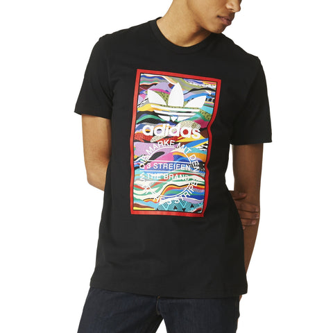 ADIDAS COLOR PATTERN T-SHIRT MENS APPAREL