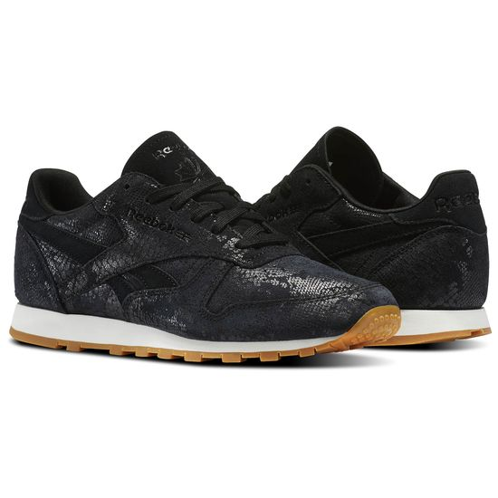 dcc183485be02 REEBOK CLASSIC LEATHER CLEAN EXOTIC WOMENS SNEAKERS – City Streets Shoes