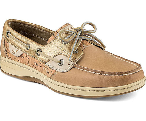 WOMENS SPERRY BLUEFISH CORK 2-EYE BOAT SHOES