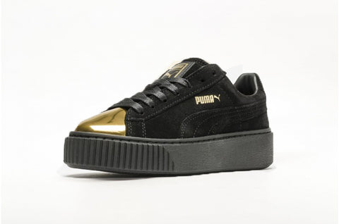 a158a471c9bb PUMA SUEDE PLATFORM GOLD WOMENS SNEAKERS – City Streets Shoes