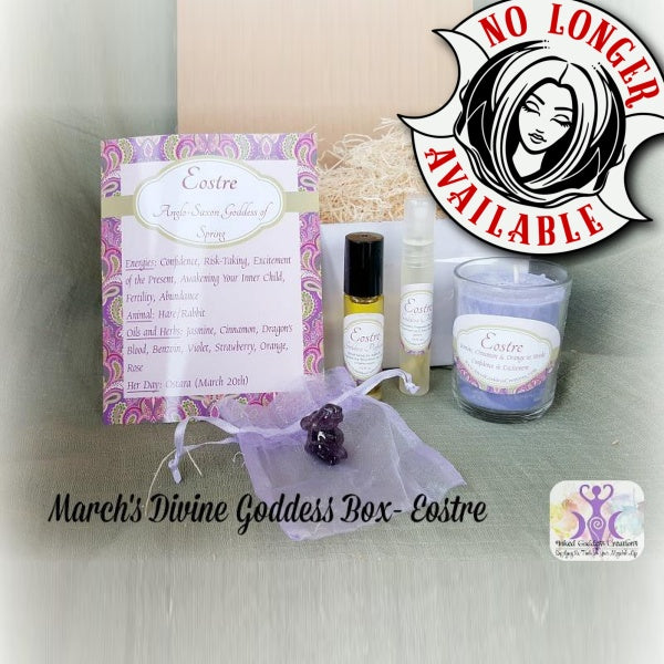 March's Divine Goddess Box- Eostre, Anglo-Saxon Goddess of Spring