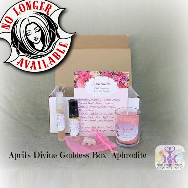 April's Divine Goddess Box- Aphrodite, Greek Goddess of Love