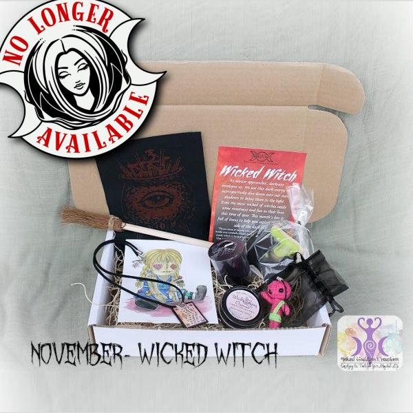 November Magick Mail Box- Wicked Witch