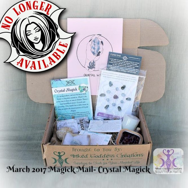 March 2017 Magick Mail- Crystal Magick
