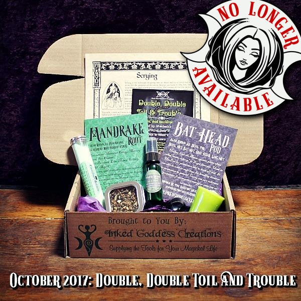 October 2017 Magick Mail Box: Double, Double, Toil & Trouble