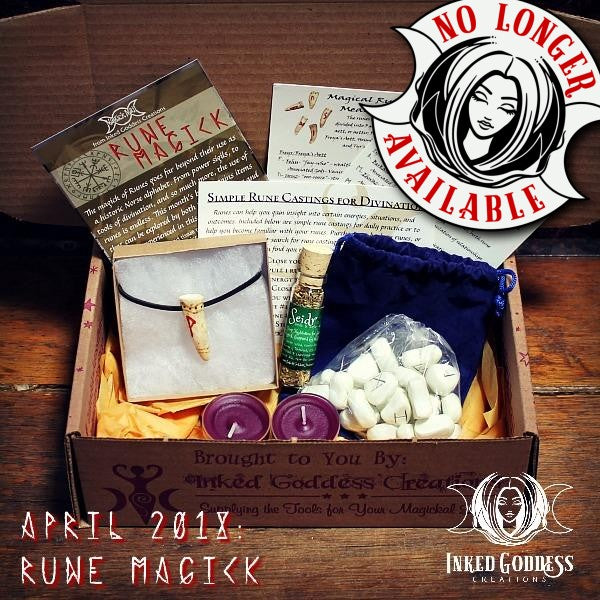 April 2018 Magick Mail- Rune Magick