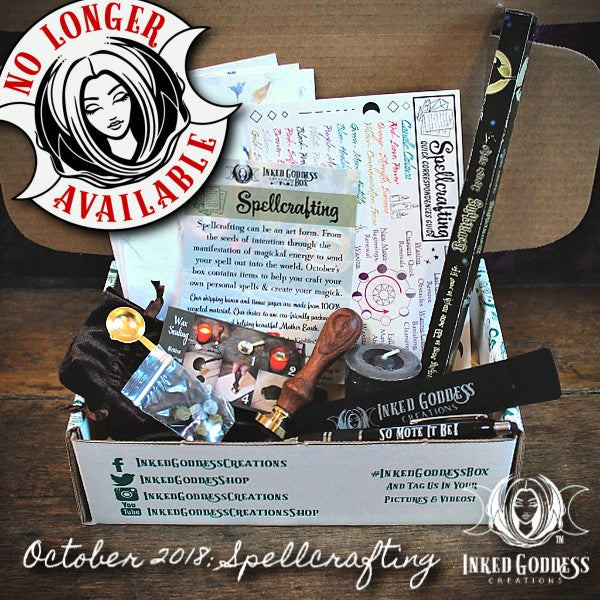 October 2018 Inked Goddess Creations Box- Spellcrafting