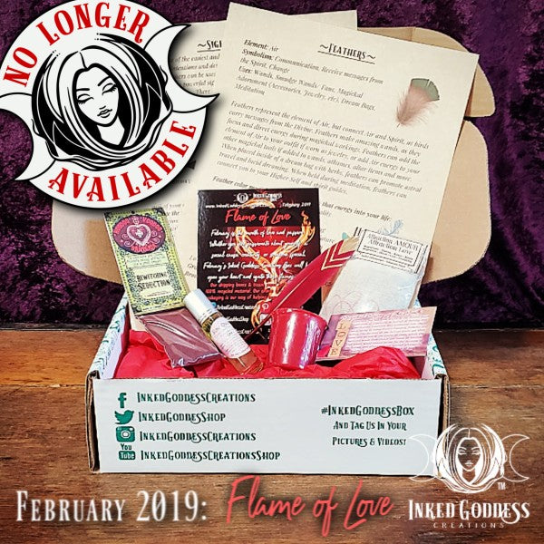 February 2019 Inked Goddess Creations Box: Flame of Love