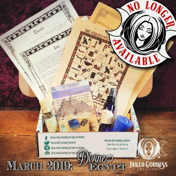 March 2019 Inked Goddess Creations Box- Divine Egypt