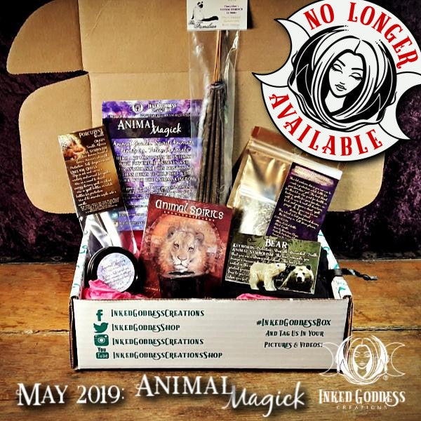 May 2019 Inked Goddess Creations Box- Animal Magick