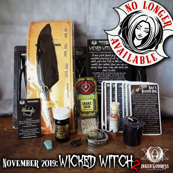 November 2019 Inked Goddess Creations Box: Wicked Witch 2