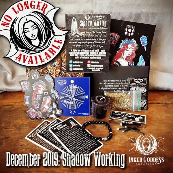 December 2019 Inked Goddess Creations Box: Shadow Working