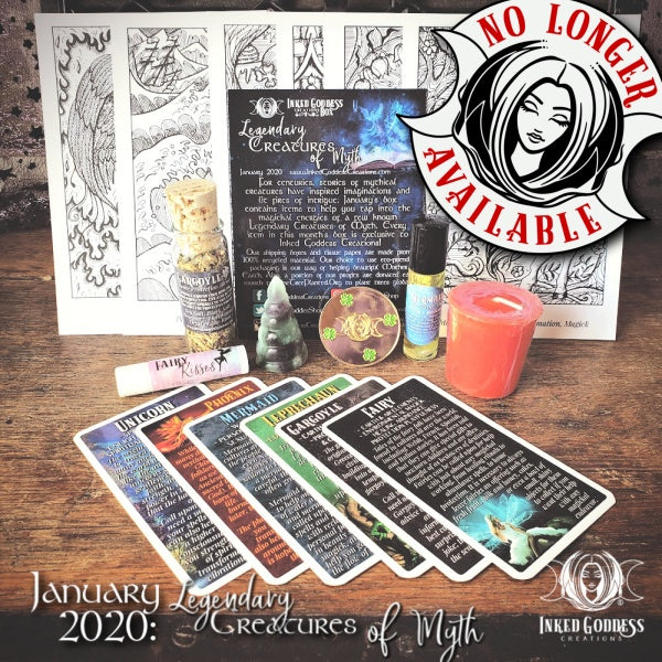 January 2020 Inked Goddess Creations Box: Legendary Creatures of Myth