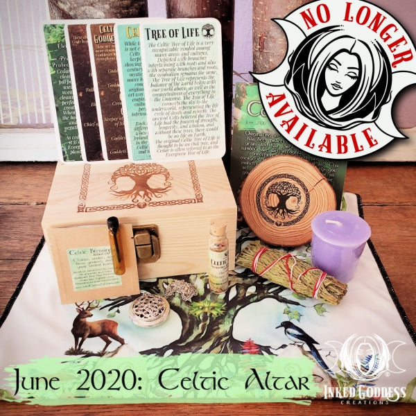June 2020 Inked Goddess Creations Box: Celtic Altar