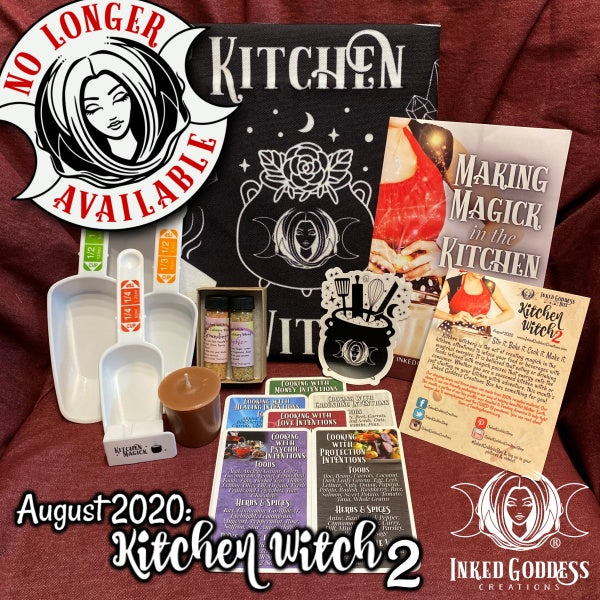 August 2020 Inked Goddess Creations Box: Kitchen Witch 2