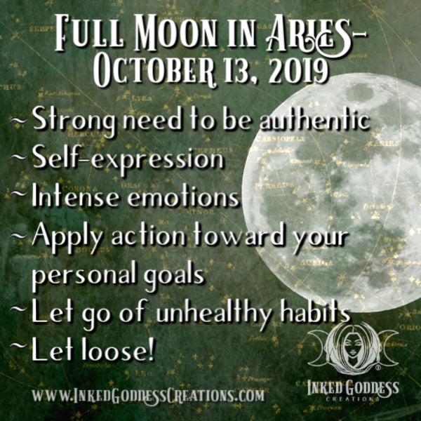 Full Moon in Aries- October 13, 2019