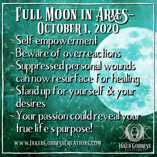 Full Moon in Aries- October 1, 2020