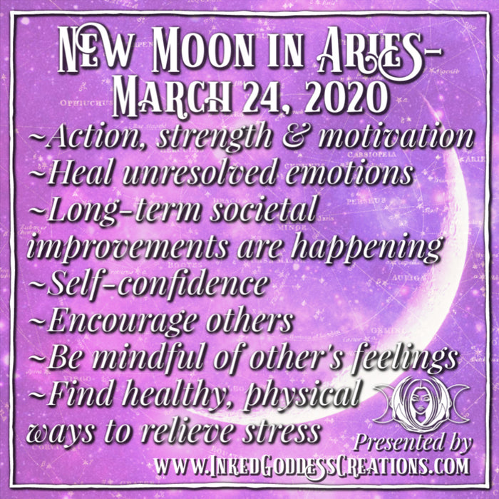 New Moon in Aries - March 24, 2020