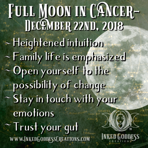 Full Moon in Cancer- December 22, 2018