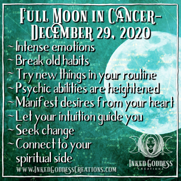 Full Moon in Cancer- December 29, 2020