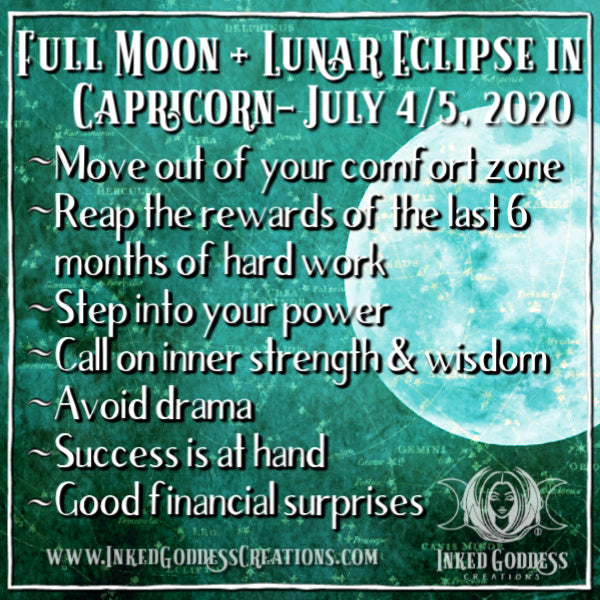 Full Moon + Lunar Eclipse in Capricorn- July 4/5, 2020