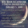 New Moon in Capricorn- January 5, 2019
