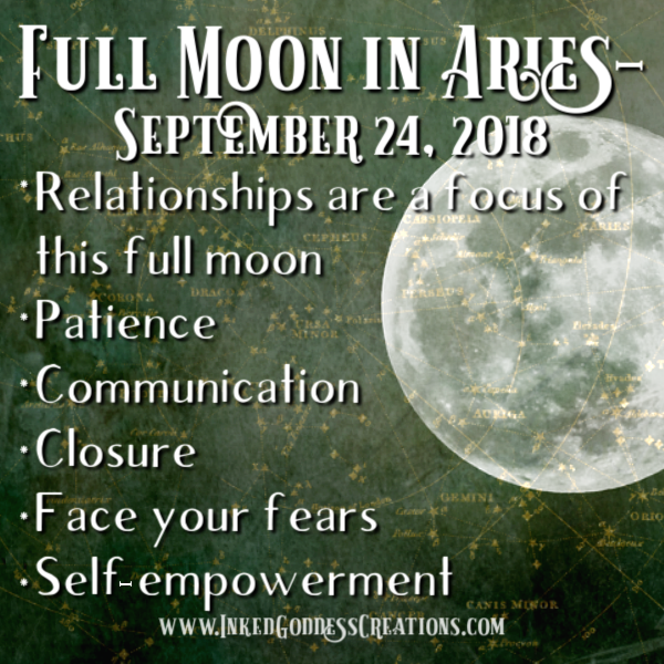 Full Moon in Aries- September 24, 2018