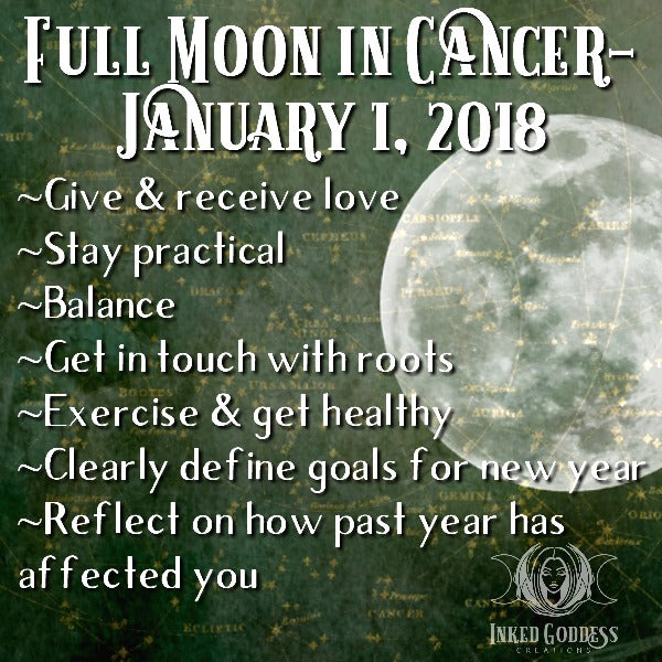 Full Moon in Cancer- January 1, 2018