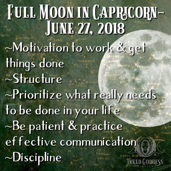 Full Moon in Capricorn- June 27, 2018