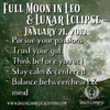 Full Moon & Lunar Eclipse in Leo- January 21, 2019