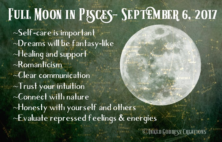 Full Moon in Pisces- September 6, 2017