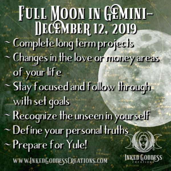 Full Cold Moon in Gemini- December 12, 2019