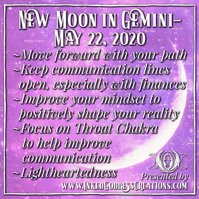New Moon in Gemini- May 22, 2020