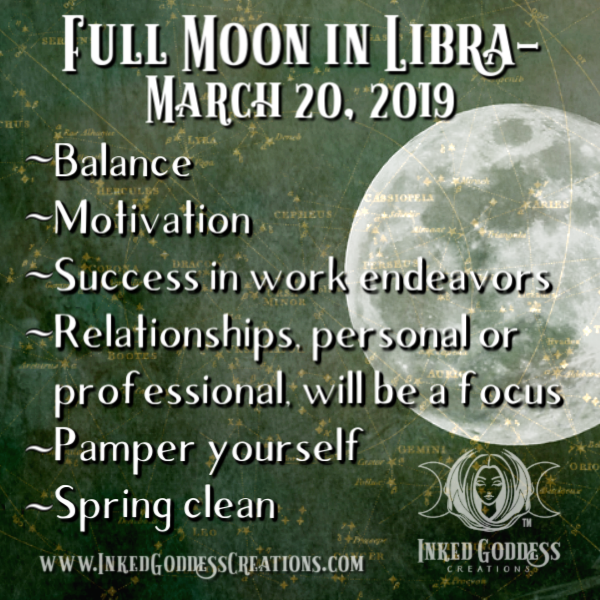 Full Moon in Libra- March 20, 2019