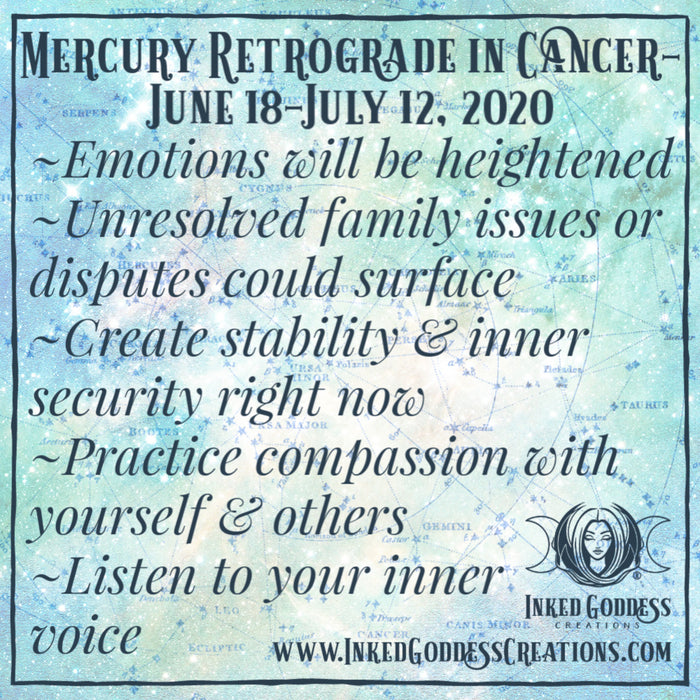 Mercury Retrograde in Cancer- June 18-July 12, 2020