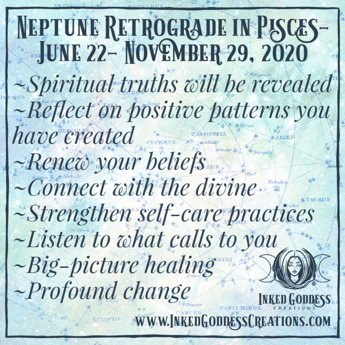Neptune Retrograde- June 22-November 29, 2020