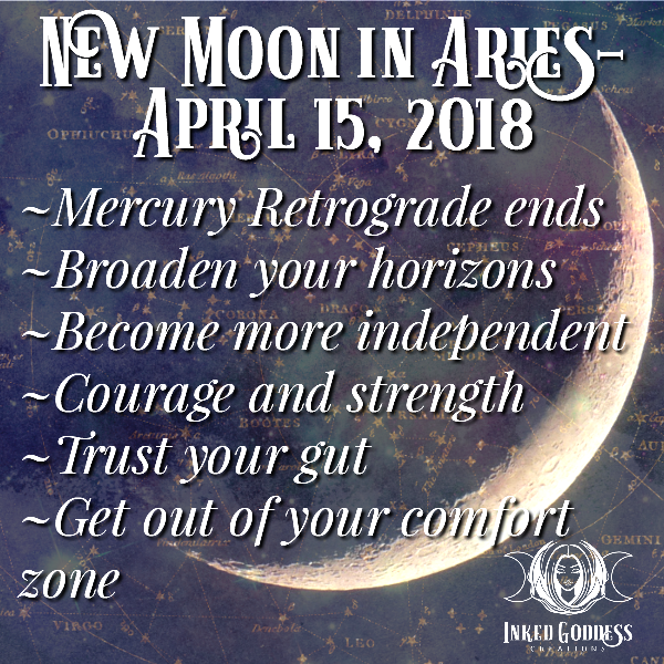 New Moon in Aries- April 15, 2018