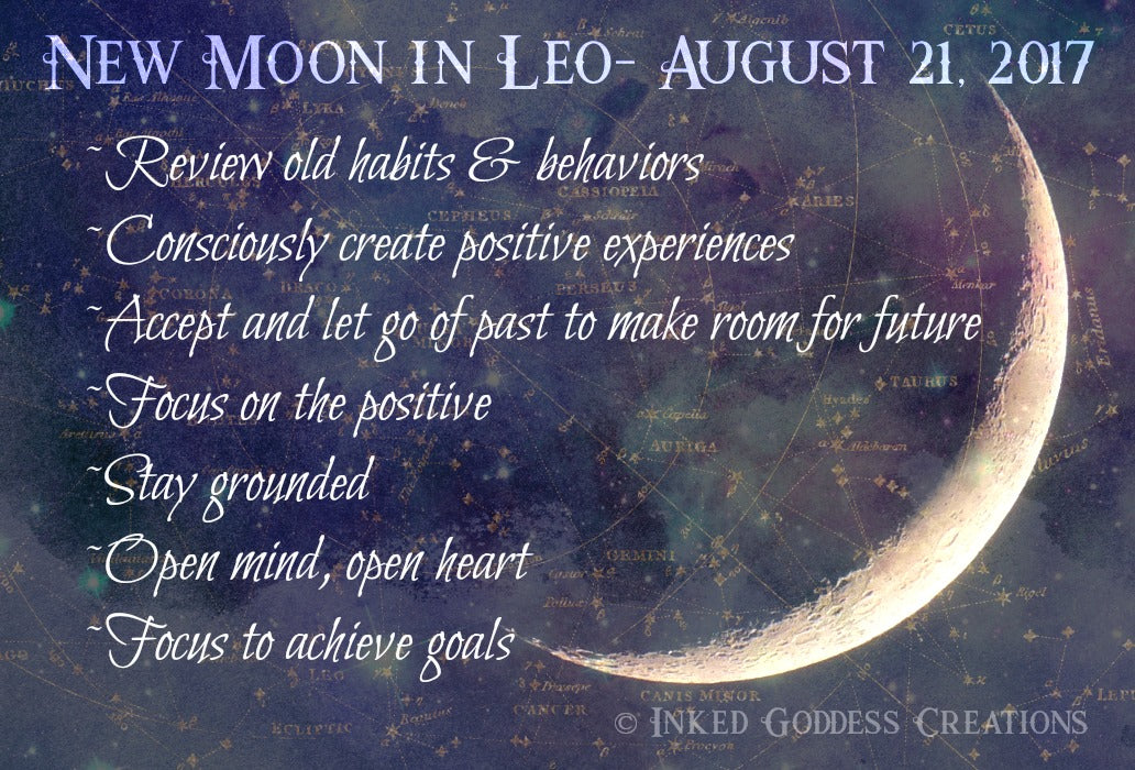 New Moon in Leo- August 21, 2017