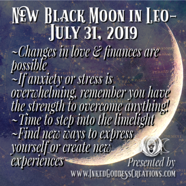 New Moon in Leo- July 31, 2019