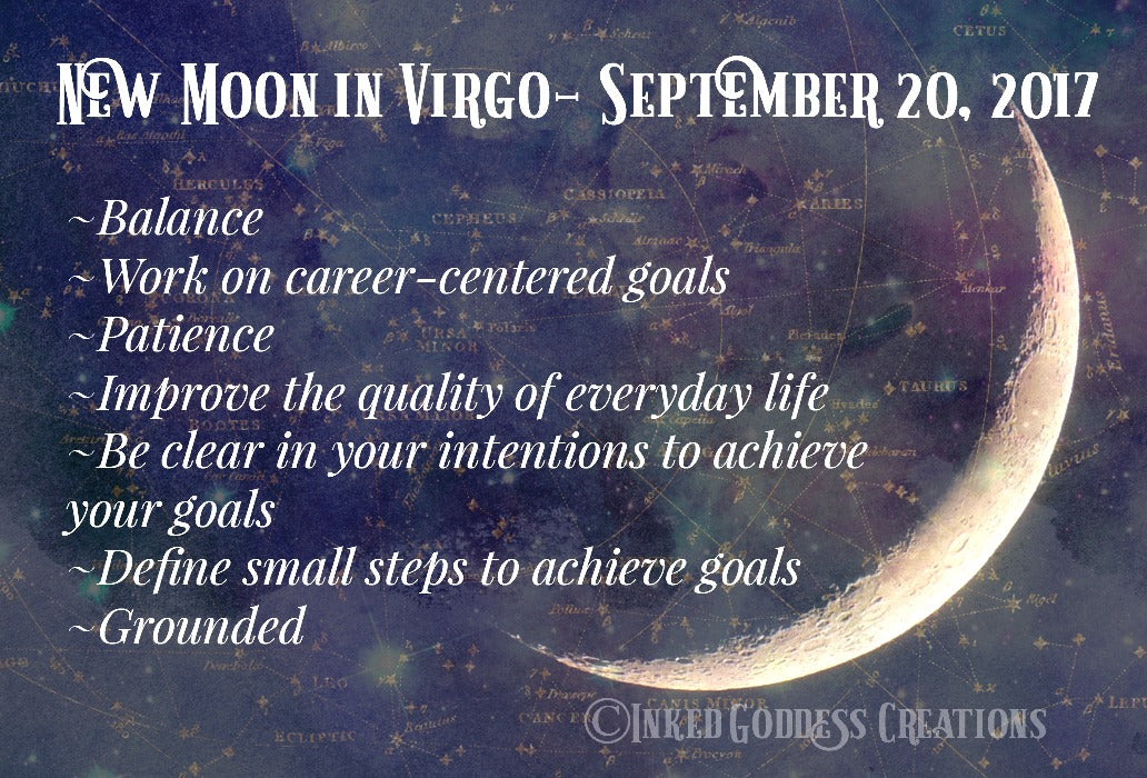New Moon in Virgo- Sept 21, 2017