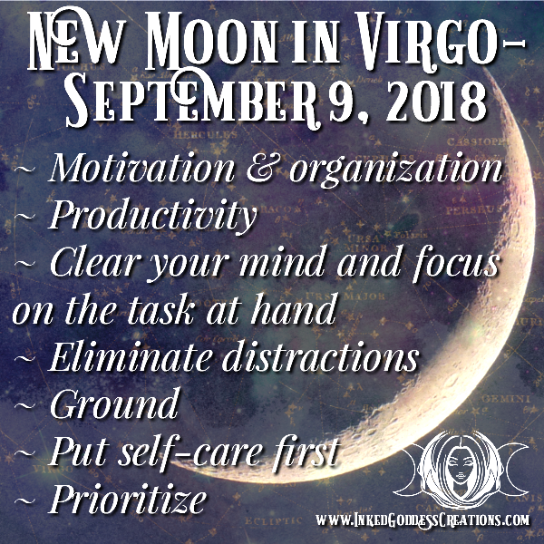 New Moon in Virgo- September 9, 2018