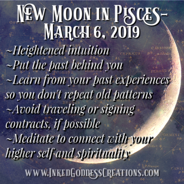 New Moon in Pisces- March 6, 2019