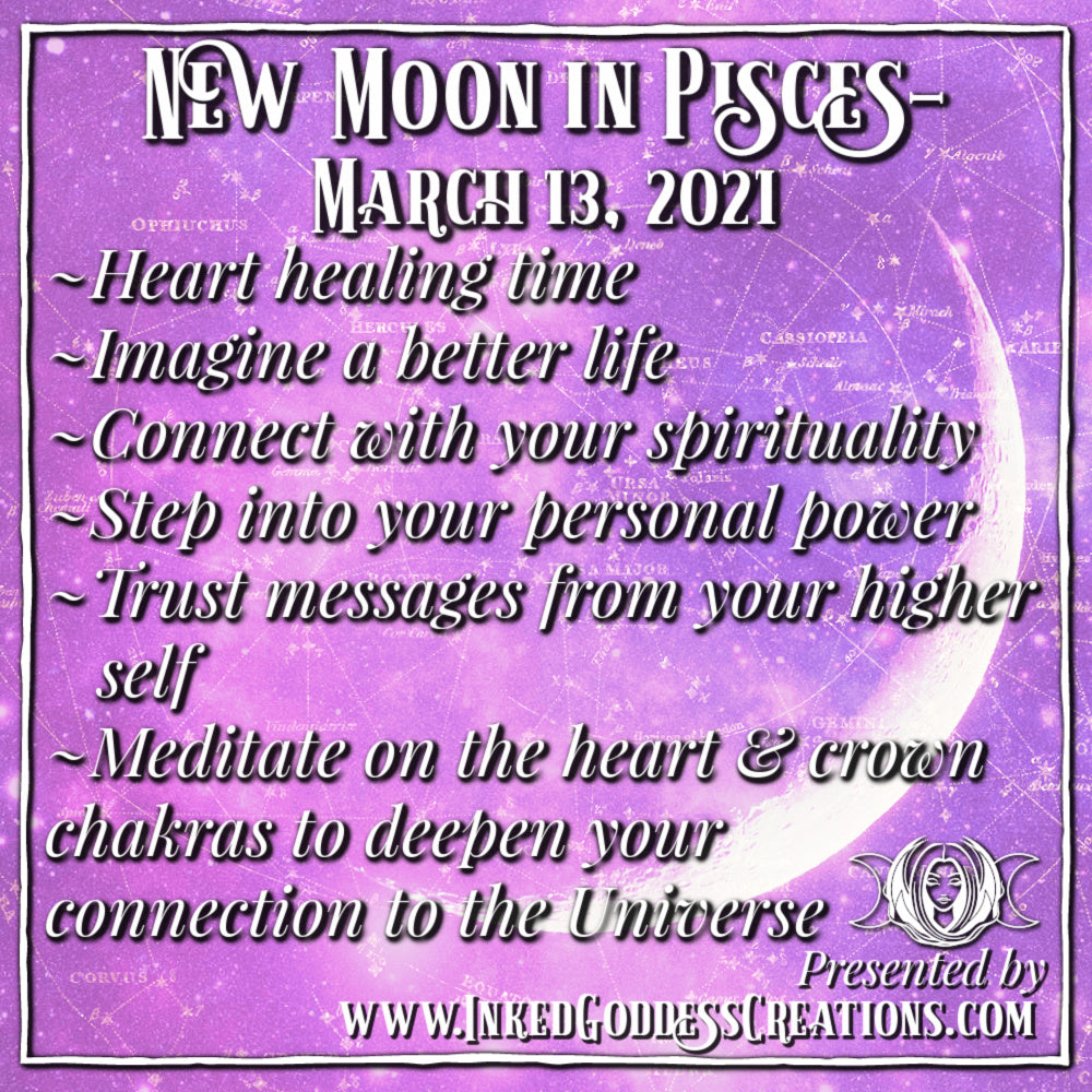 New Moon in Pisces- March 13, 2021