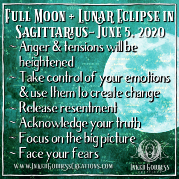 Full Moon + Lunar Eclipse in Sagittarius - June 5, 2020